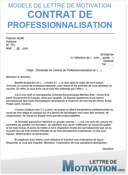 lettre de motivation contrat d u0026 39 apprentissage