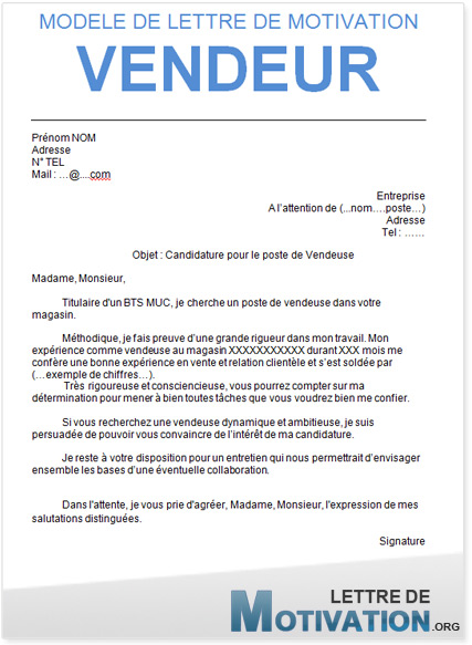 Lettre de motivation .org : trouvez le modele de lettre de motivation ...